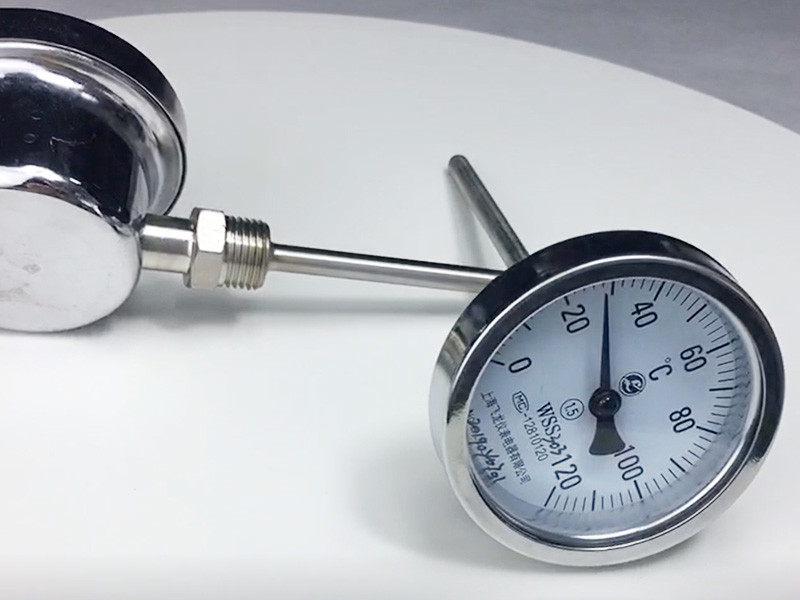 Side Connection Customized Temperature Range Bimetal Thermometer