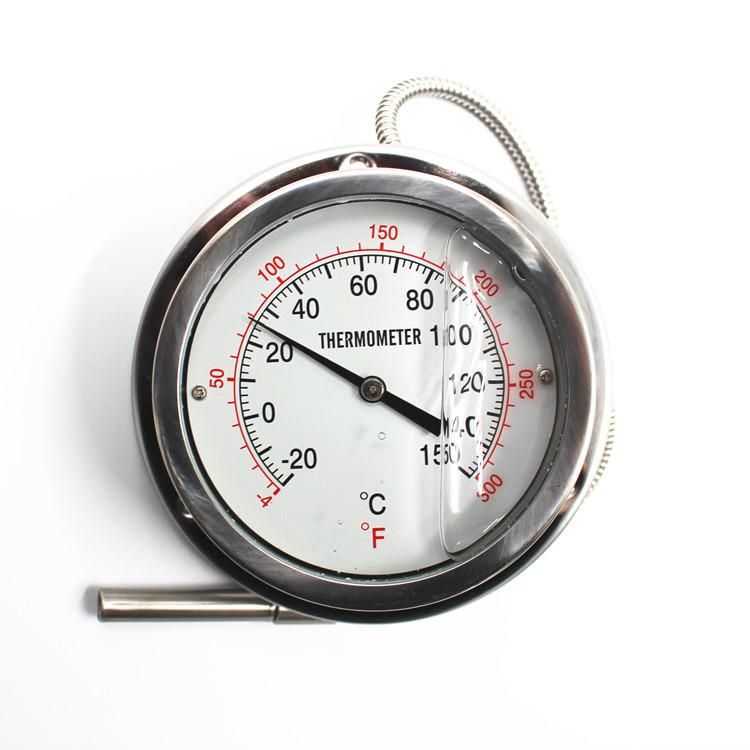 Feilong Pressure Thermometer Capillary Thermometer Cold Storage Thermometer All Steel Cryometer -20-150C